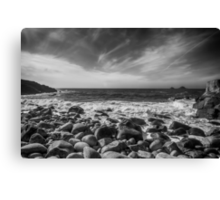 Cot Valley Porth Nanven 4 Black and White Canvas Print