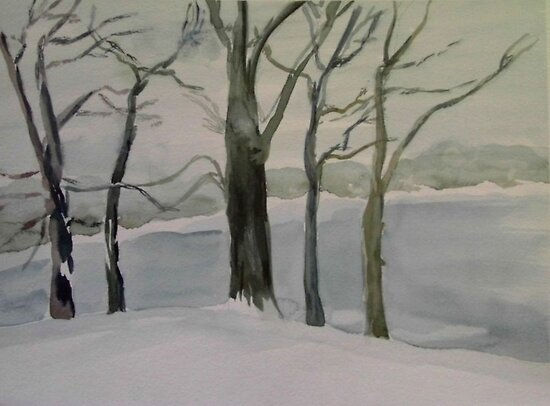 Frozen Lake 2 by watercolors1