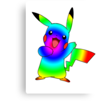 Rainbow Pikachu Canvas Print