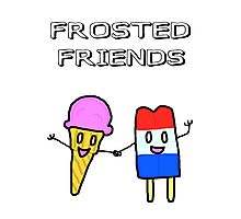 Frosted Friends Photographic Print