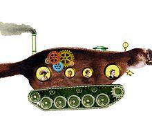 Steampunk Platypus Tank by Tickleart