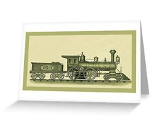 Steam Engine Illustration Greeting Card