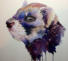 Orson, the slightly blue otter by Karl Fletcher