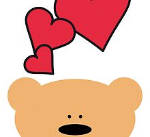 Teddy bear heart by chrisbears