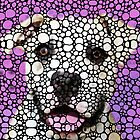 Pit Bull Stone Rock'd Art By Sharon Cummings by Sharon Cummings