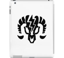 Bioshock Infinite Charge Vigor [Black on White] iPad Case/Skin