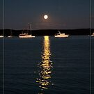 Calm evening mooring stay in moonlight by Alexey Dubrovin