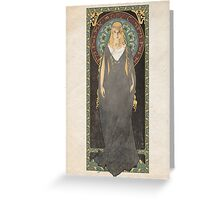 The Lord of the Rings poster Galadriel - Lady of the Galadhrim / art nouveau Greeting Card