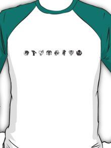 Bioshock Infinite Vigors [Black on White/Line] T-Shirt