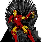 A Stark on the Iron Throne (colour) by killgannon