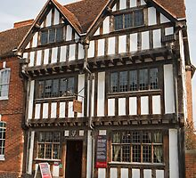 Nash's house and New Place in Stratford Upon Avon England by Keith Larby