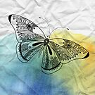 graphic butterfly by Tanor