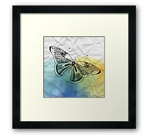 graphic butterfly Framed Print