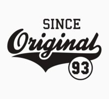 Original SINCE 1993 Birthday Anniversary T-Shirt Black by MILK-Lover