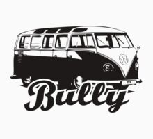 Retro BULLY T-Shirt Black by MILK-Lover