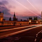 Light Trails at Westminster by Stuart  Gennery