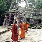 Monks in Cambodia by jevep