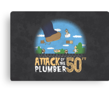 50 Foot Plumber Canvas Print