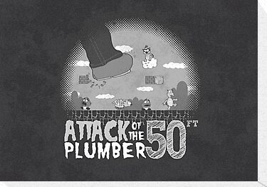 50 Foot Plumber - Black and White by thehookshot