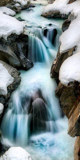 Winter Waterfall by camfischer