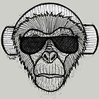 Monkey Headphones by Brett Gilbert