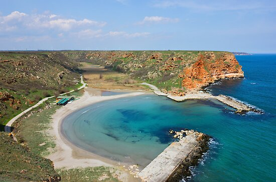 Small Peaceful Beach On Bulgarian Black Sea Coast by kirilart