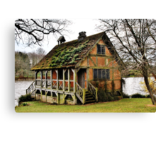 .....if only ! Bowood Fishing Lodge Canvas Print
