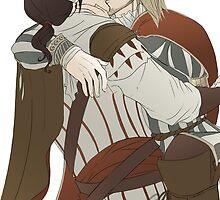 Ezio and Leonardo - I missed you by uncreativeart