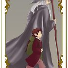 Bilbo and Gandalf by uncreativeart
