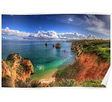 Red Sandstone Cliffs Poster
