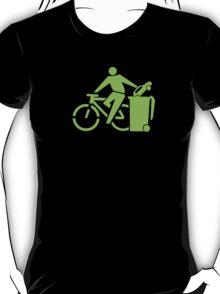 clean up.    green font T-Shirt