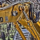 Excavator at work by brijo