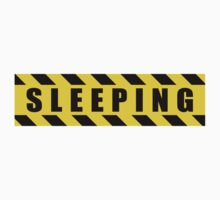 Sleeping - Hazard Sign by SignShop