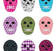 Sugar Pattern Skulls by ValeriesGallery