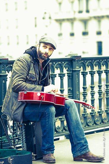 The slide guitarist by Gideon van Zyl