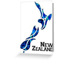 Fluid New Zealand Greeting Card