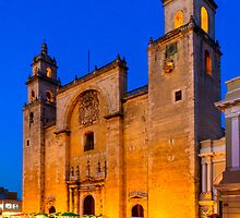 Yucatan Nights - Mérida Cathedral by Mark Tisdale