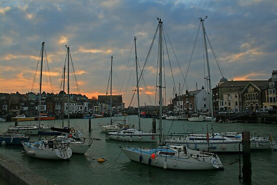Weymouth Harbour at Dusk by RedHillDigital
