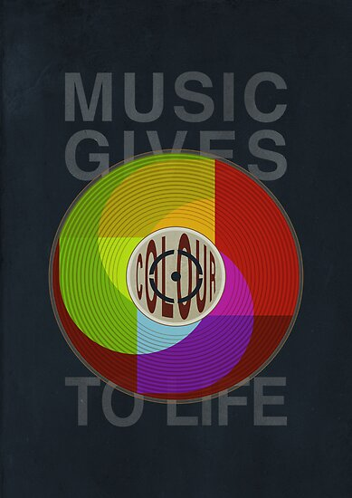 Music Gives Colour To Life by ChunkyDesign