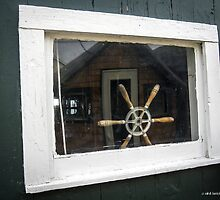 Boathouse Window by Mikell Herrick