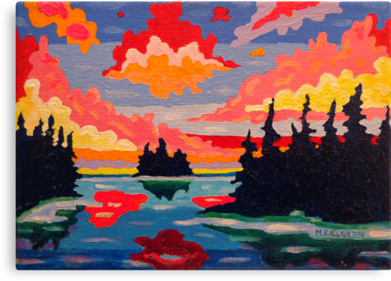 Northern Sunset Surreal by Morgan Ralston