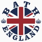 Bath Vintage Style British Flag by FlagCity