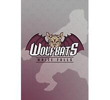 White Falls Wolfbats Photographic Print