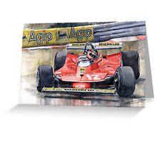 Ferrari  312T4 Gilles Villeneuve Monaco GP 1979 Greeting Card