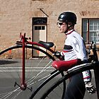 Uber cool Penny farthing dude by Cecily  Graham