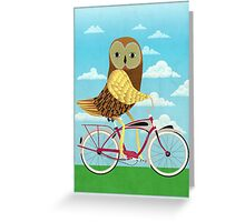 Owl Bicycle Greeting Card