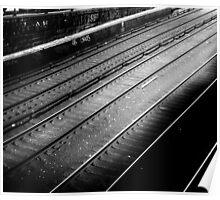 Empty train tracks Poster
