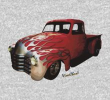 Flaming Chevy Pickup T-Shirt! Kids Clothes