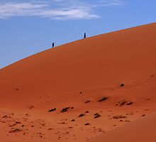"""Red Sand Dunes"" Namibia,  West Africa by aidan  moran"