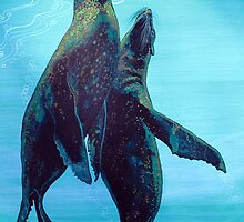 Sea Lions from the Galapagos Islands by acrylicsandart